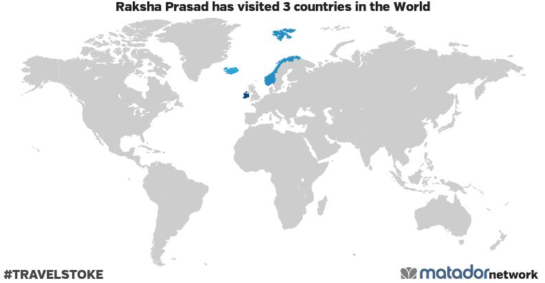 Raksha Prasad's Travel Map