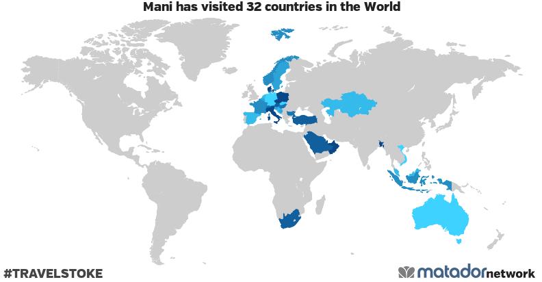 Mani's Travel Map
