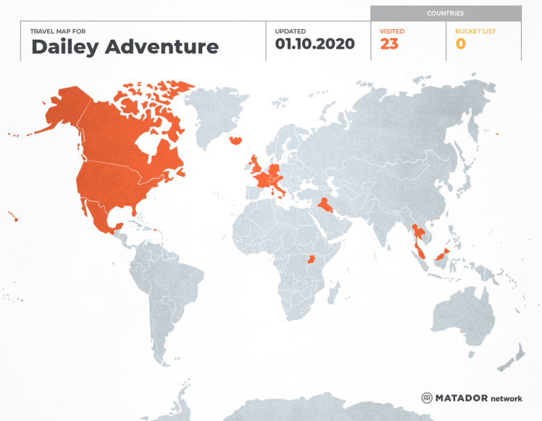 Dailey Adventurers's Travel Map