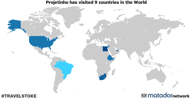 Projetinho's Travel Map