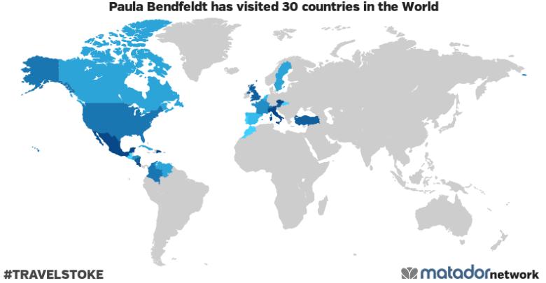 Paula Bendfeldt's Travel Map