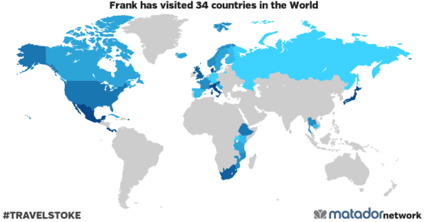 Frank's Travel Map