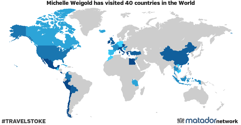 Michelle Weigold's Travel Map