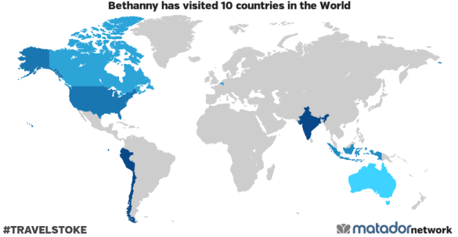 Bethanny's Travel Map