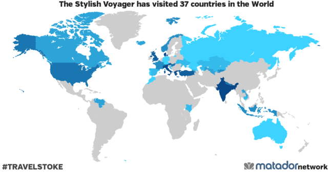 The Stylish Voyager's Travel Map