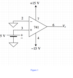 draw the diagram of a 741 op amp operated from 15 v supplies with vi 0v and vi 5v include terminal pin connections  [ 1166 x 1026 Pixel ]