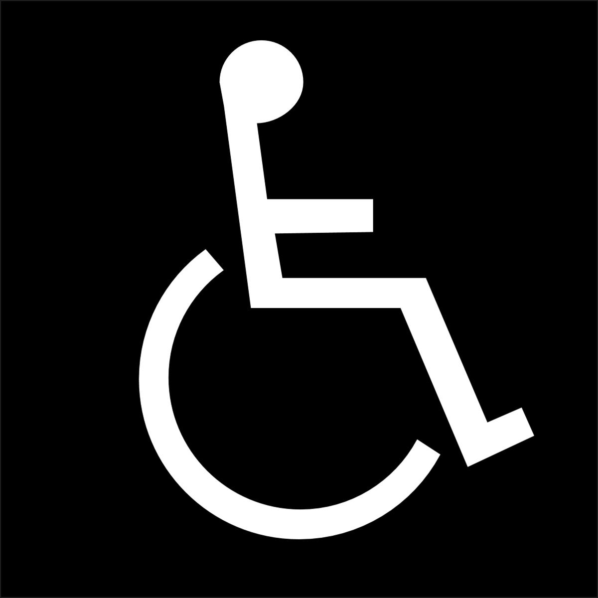 braille ada handicap sign