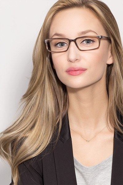 Hugo Brown Women Acetate Eyeglasses EyeBuyDirect