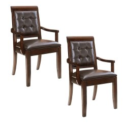 American Drew Tribecca Sofa Table Rugs For Chocolate Brown Upholstered Leather Arm Chair 2 Pack