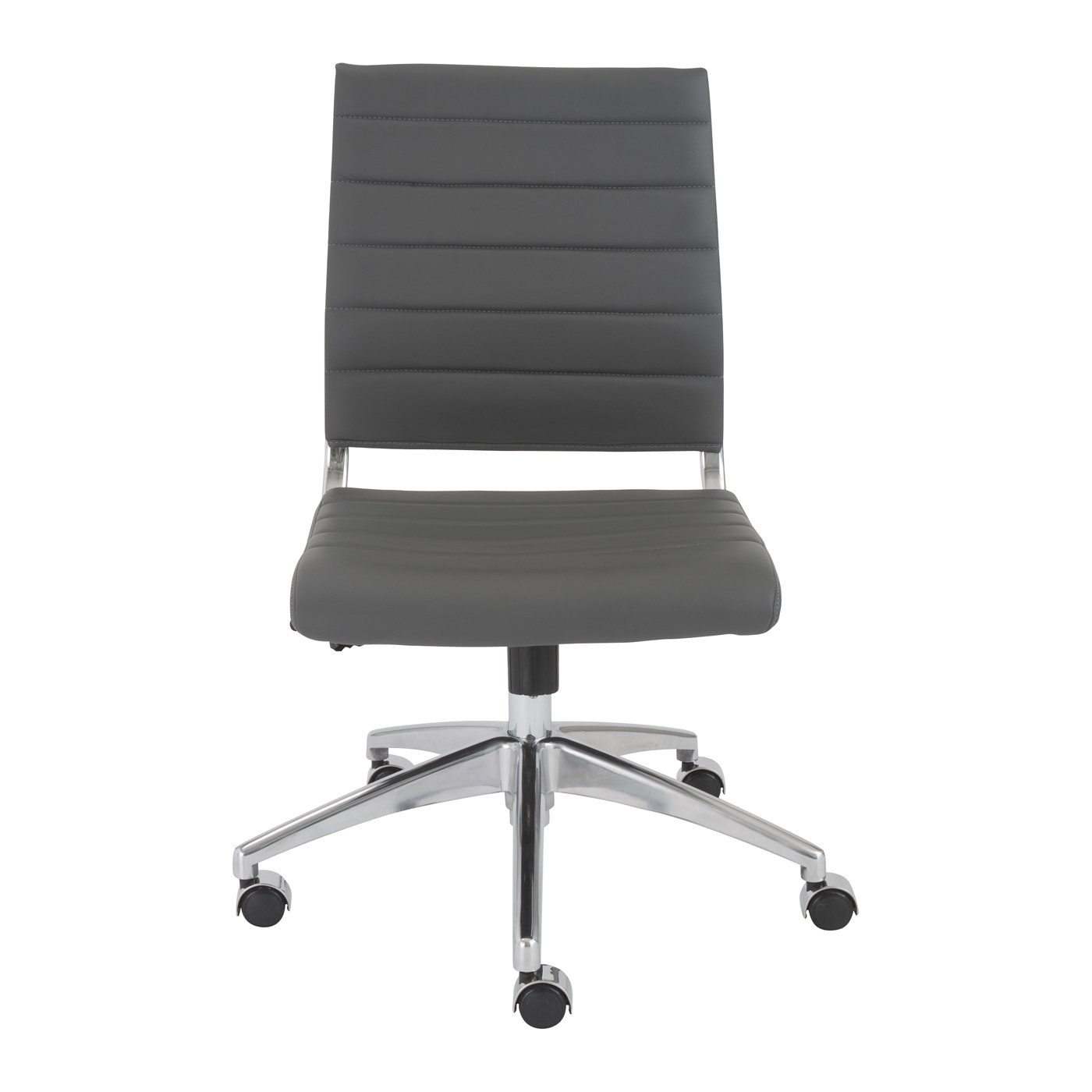 Low Back Office Chair Axel Low Back Office Chair With Gray Leatherette Upholstery By Euro Style