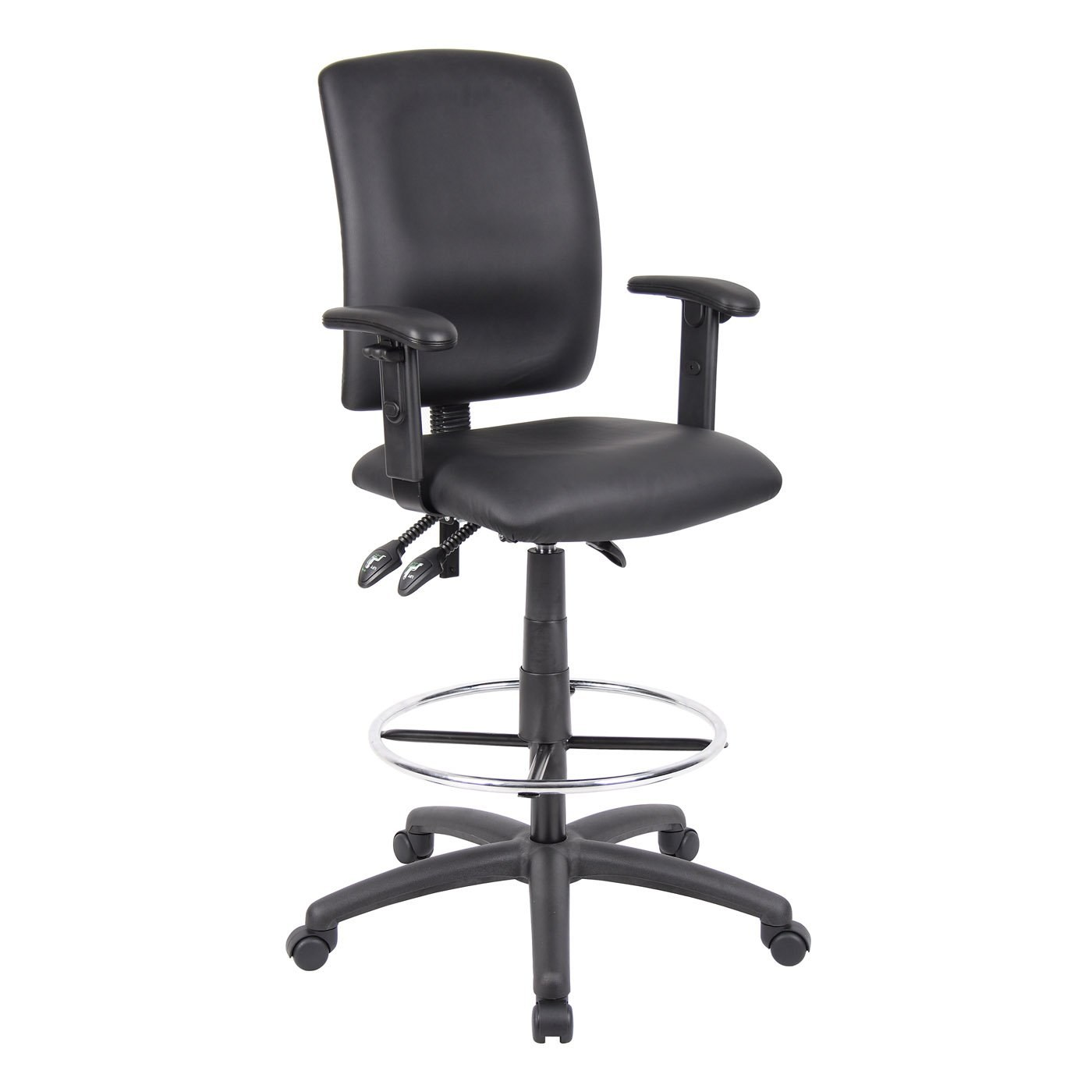 ergonomic drafting chair with arms design dining stool adjustable black