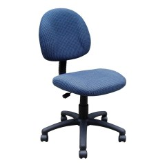 Posture Deluxe Chair Swivel Instructions Tweed Office With Blue Upholstery By Boss Save 36