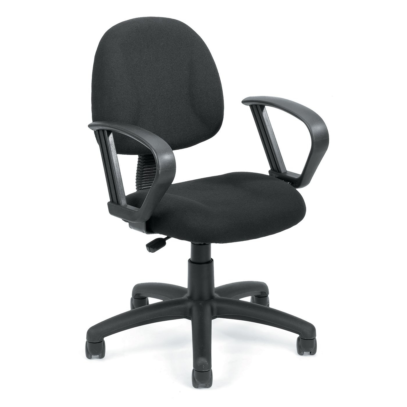 upholstered posture chair intex inflatable pull out review deluxe tweed office with loop arms