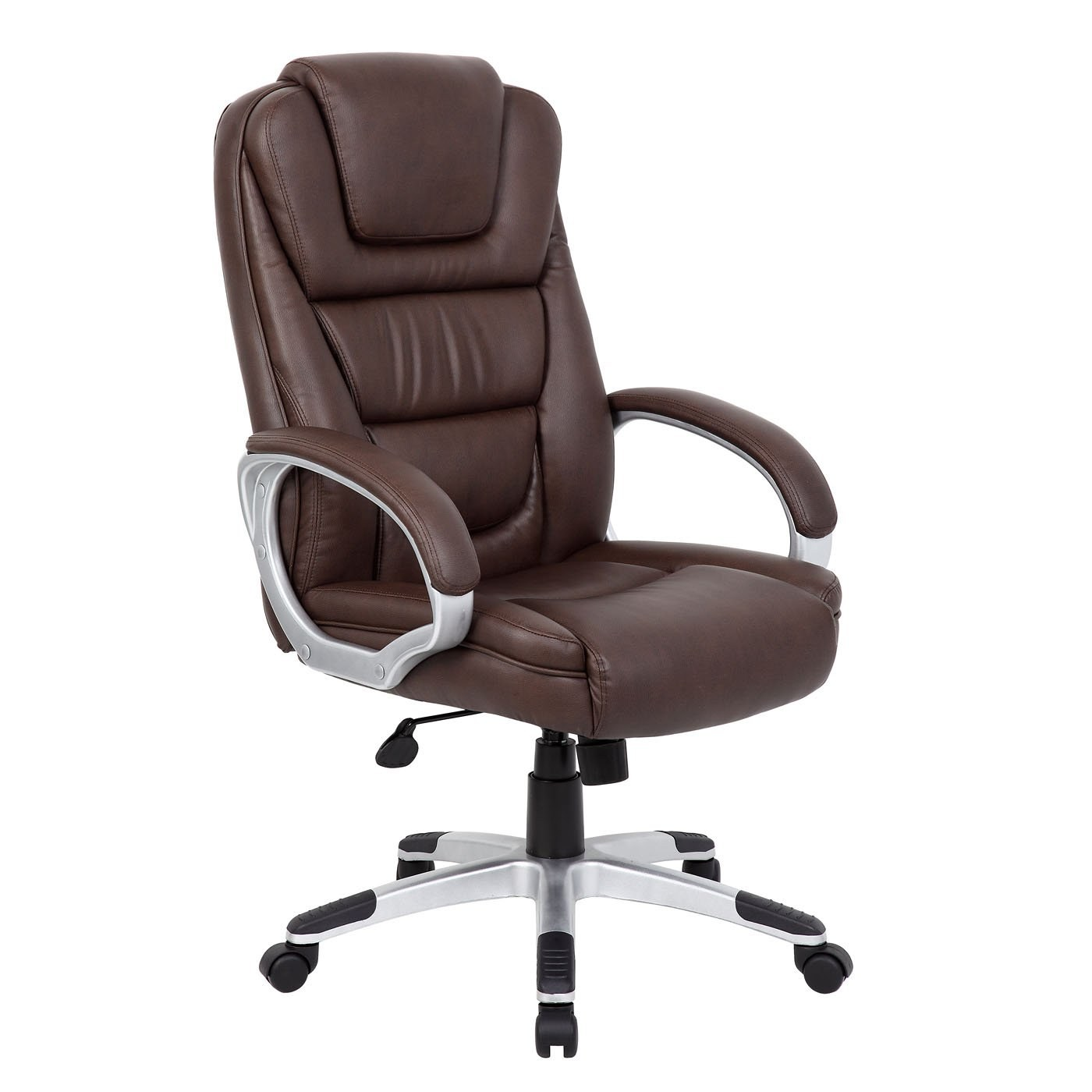 boss ntr executive leatherplus chair swing lift by office products