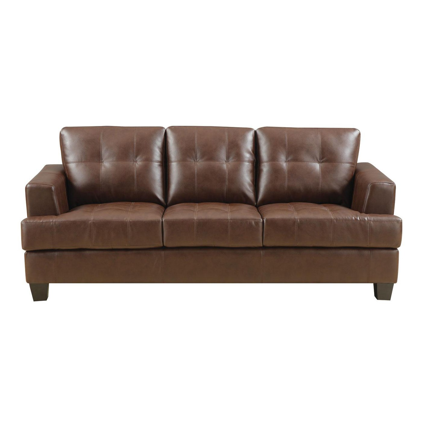 coaster samuel bonded leather sofa en cuir a vendre montreal with dark brown upholstery by