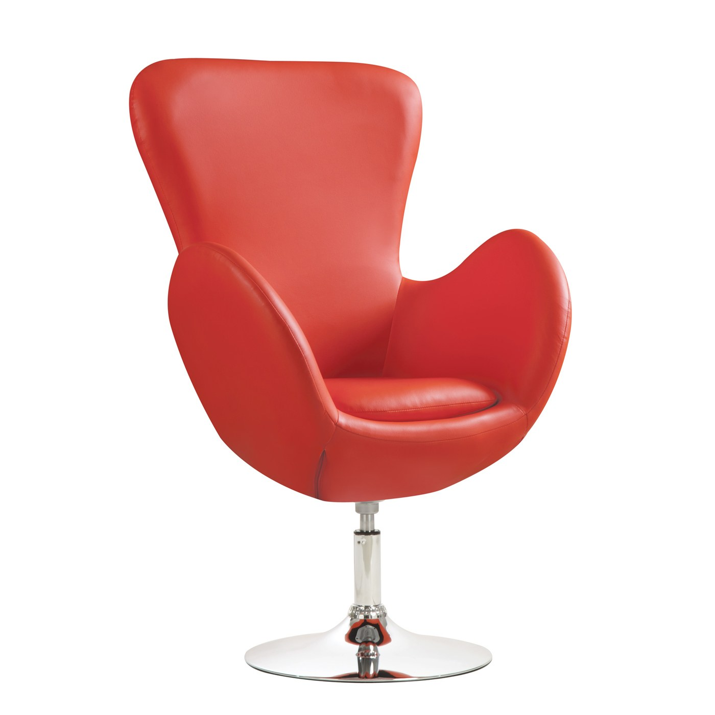 red high back chair eames stool swivel with leather like vinyl
