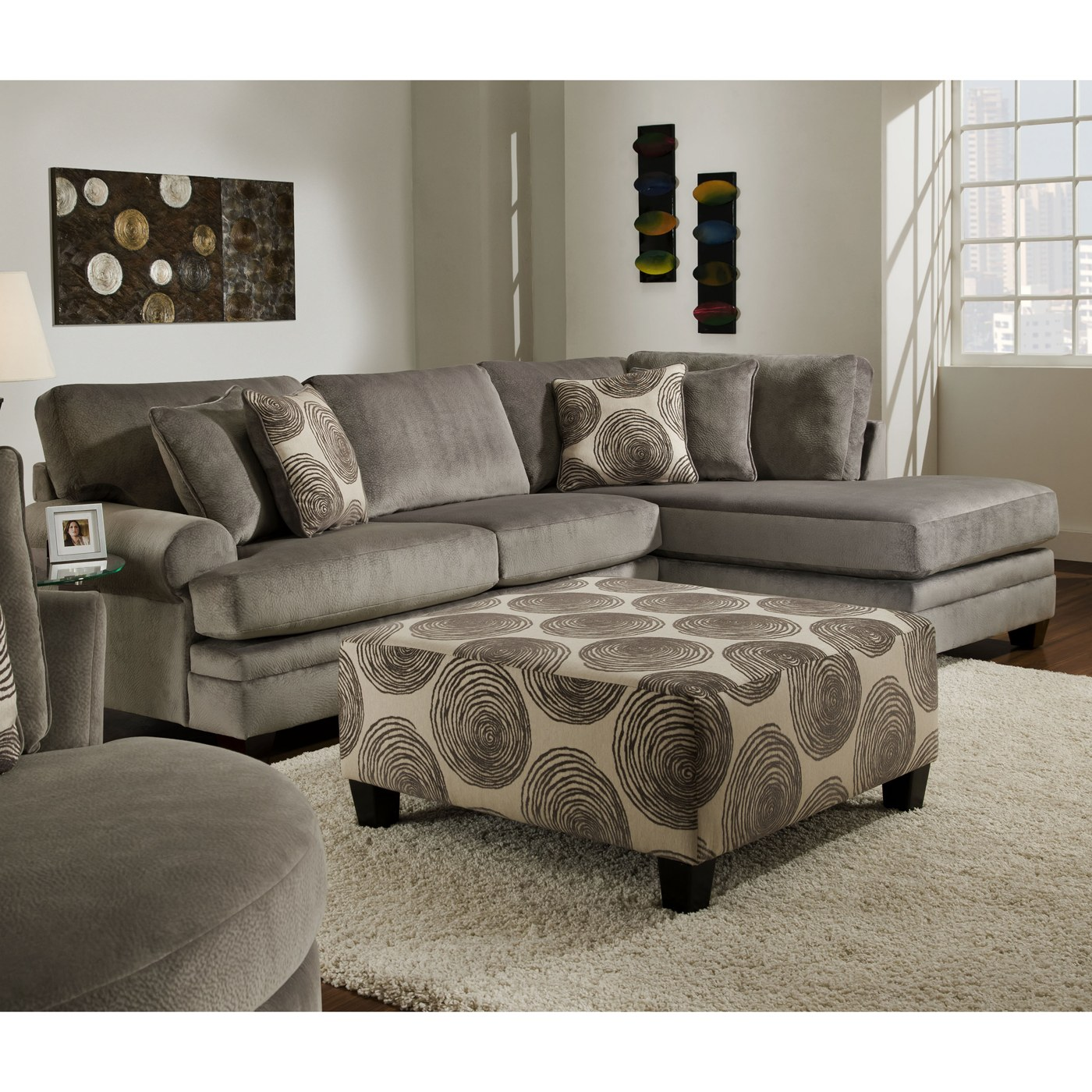 coaster tess sectional sofa rattan garden corner dining sets rayna with groovy smoke big swirl