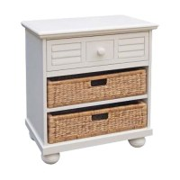 Palmetto Bay Nightstand with Baskets by Chelsea Home
