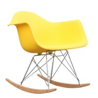 Rocker Arm Chair in Yellow by Mod Decor