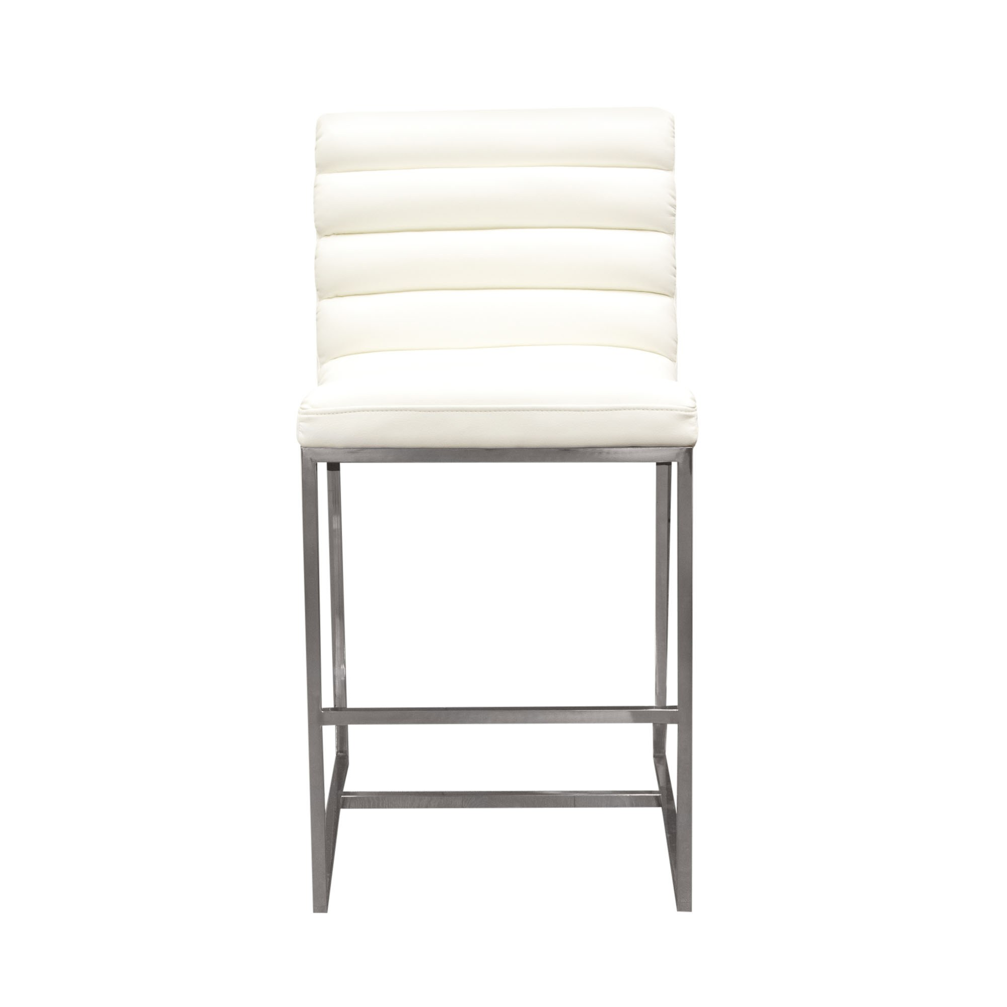 steel chair size padded shower bardot counter height with stainless frame by