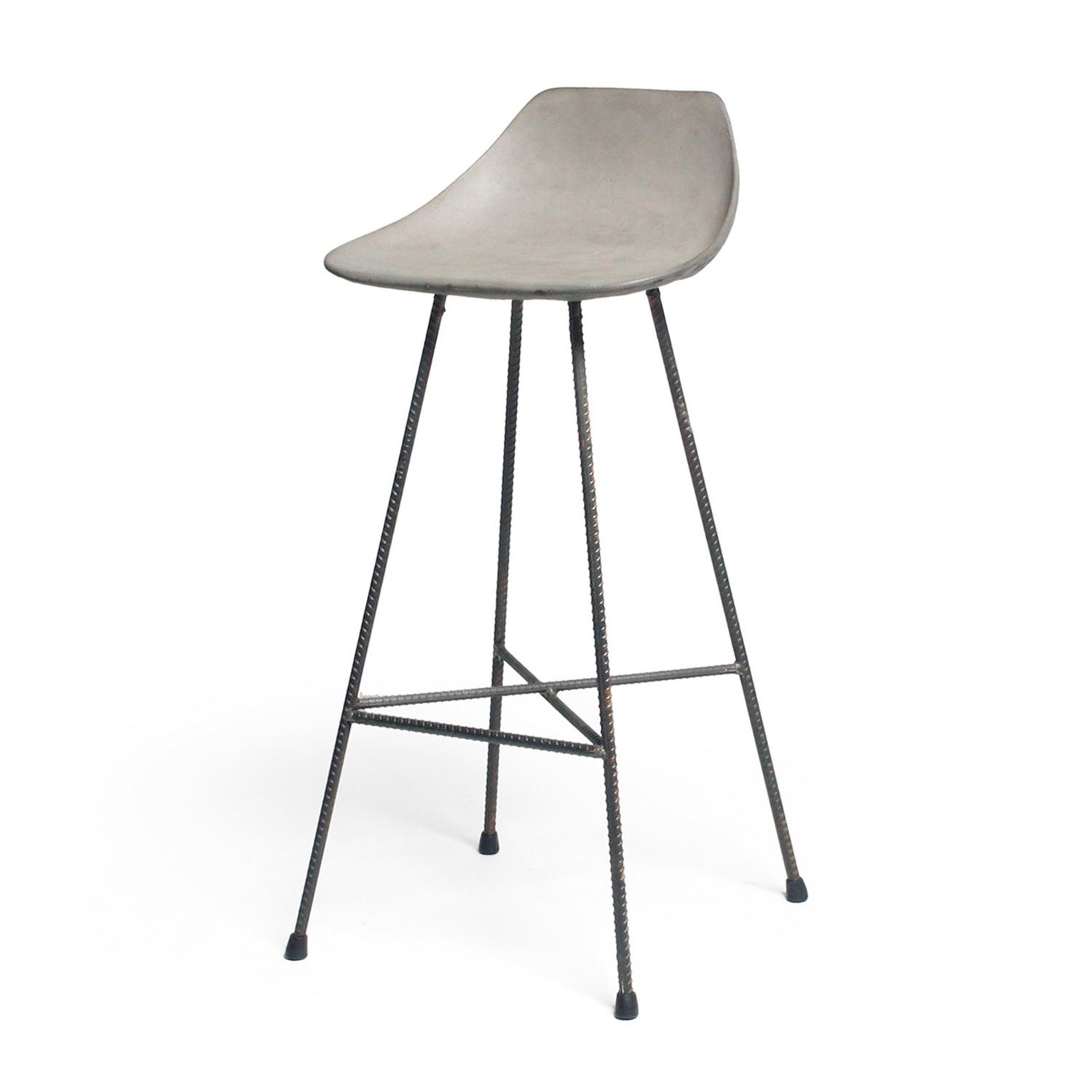 Concrete Rebar Chairs Hauteville Bar Chair