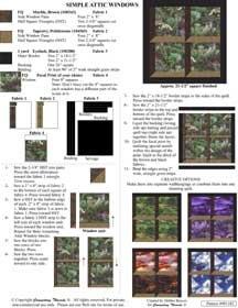 Free Attic Windows Quilt Pattern : attic, windows, quilt, pattern, Simple, Attic, Windows, Quilt, Pattern, Connecting, Threads