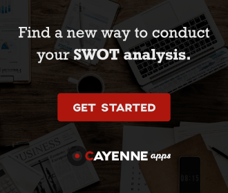 Find a new way to conduct your SWOT analysis with CayenneApps