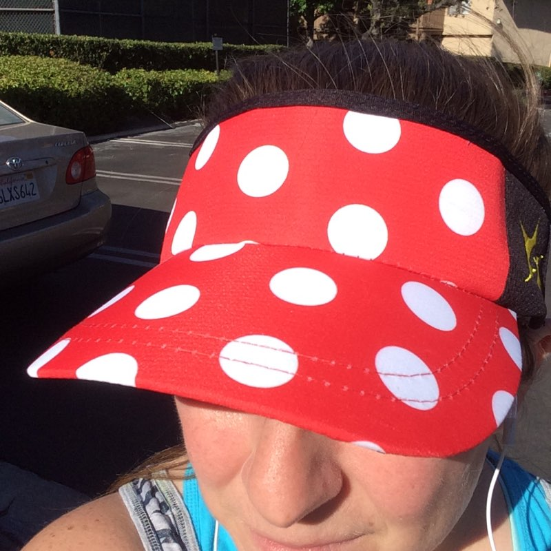Polka Dot Visor Sparkle Athletic