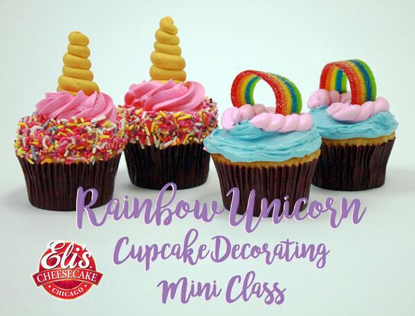 Jul 28 Elis Cheesecakes Rainbow Unicorn Cupcake Mini Class