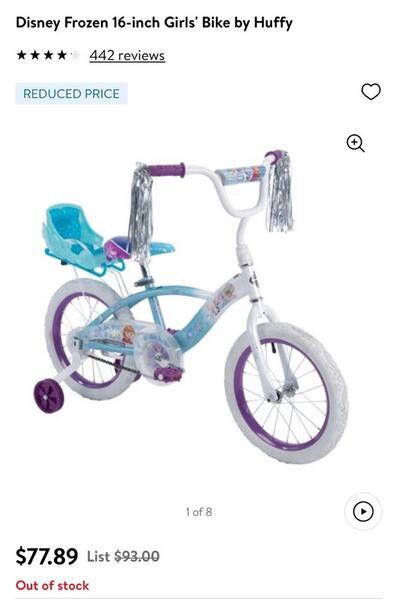 Huffy Girls Bike 16 : huffy, girls, Disney, Frozen, 16-inch, Girls', Huffy, Nextdoor