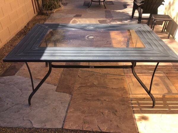 40 hampton bay patio table for