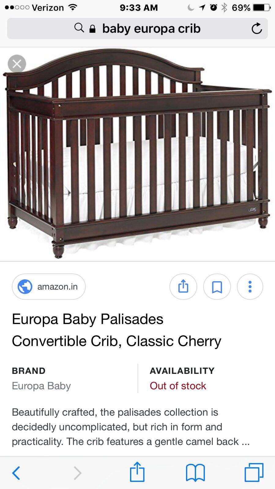 Europa Baby Crib : europa, Spiderman, Nextdoor