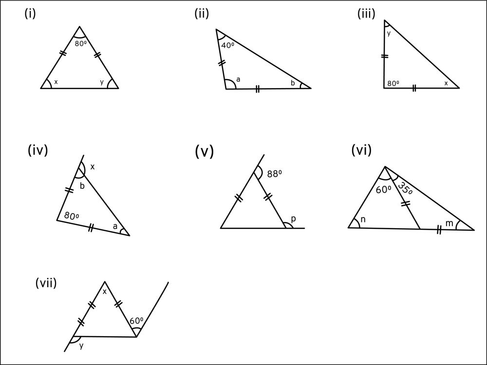 medium resolution of Q1 Find the unknown angles in the given figures   LIDO