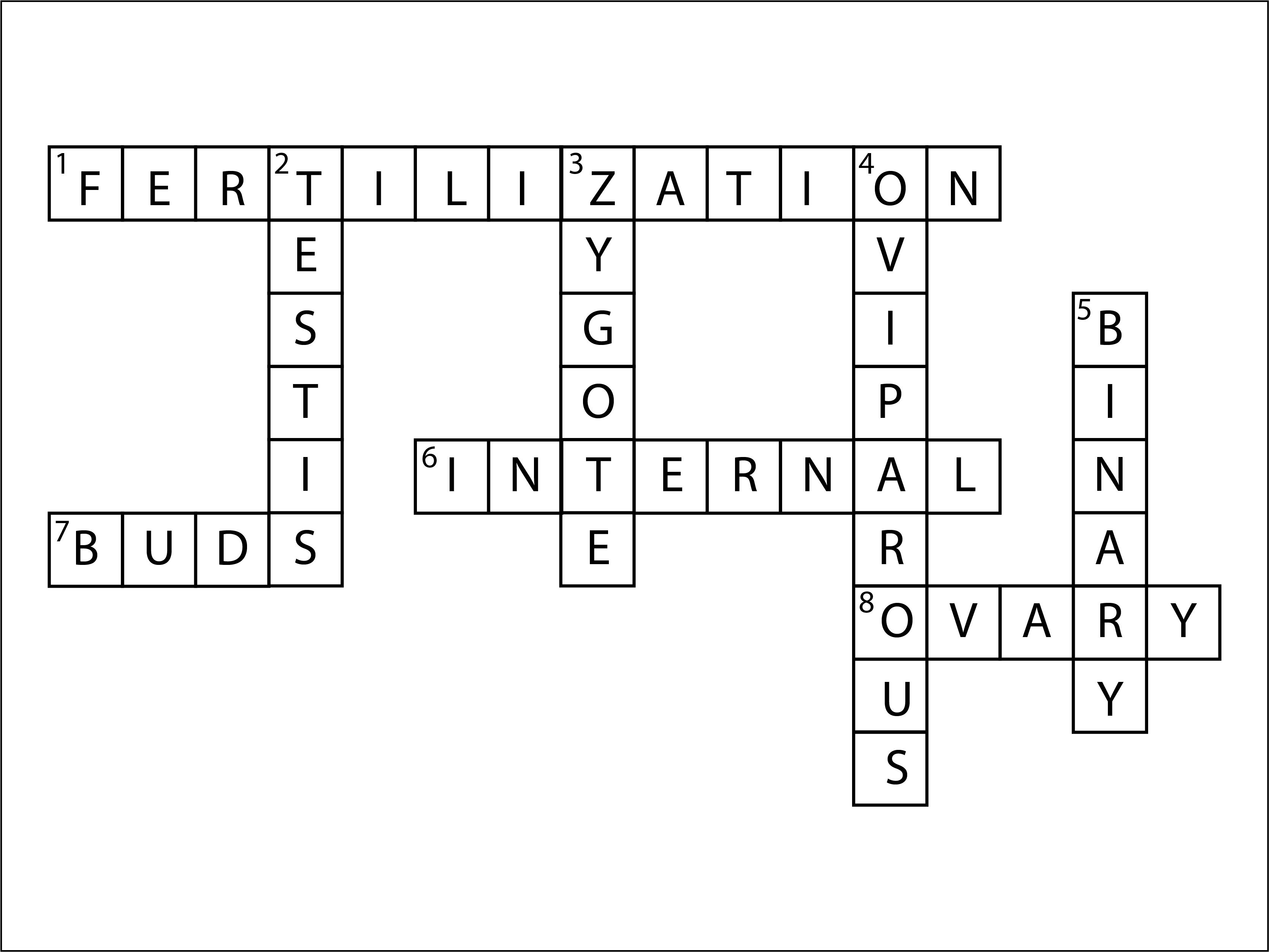 Q10 Complete the crossword puzzle using the hints given