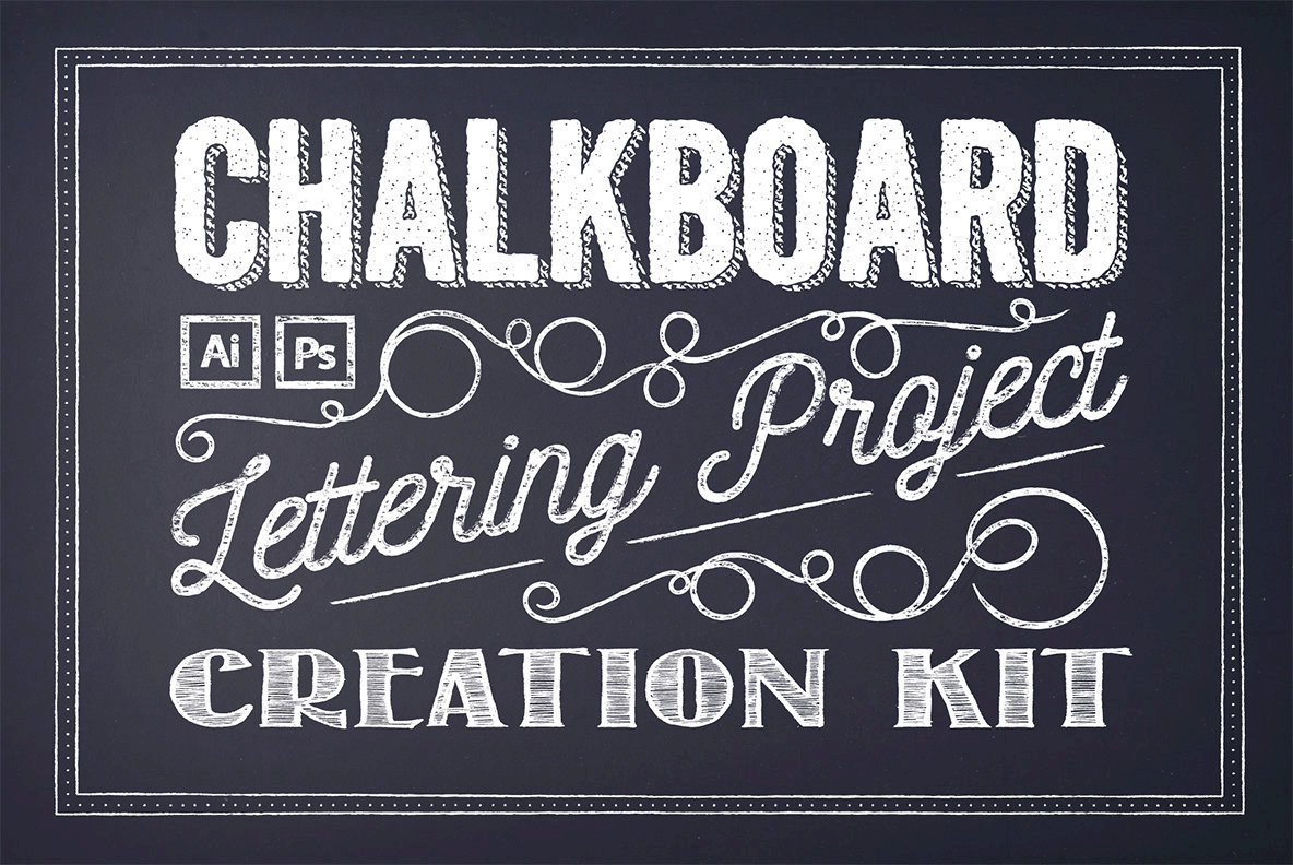 chalkboard lettering project creation