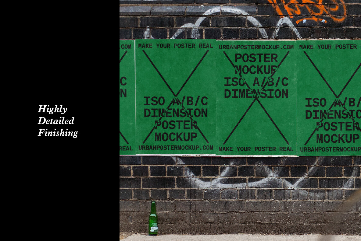 As we all know that the people on the street spend a few seconds looking at the ads given in the poster. Urban Poster Mockup Vol 2 Graphics Youworkforthem
