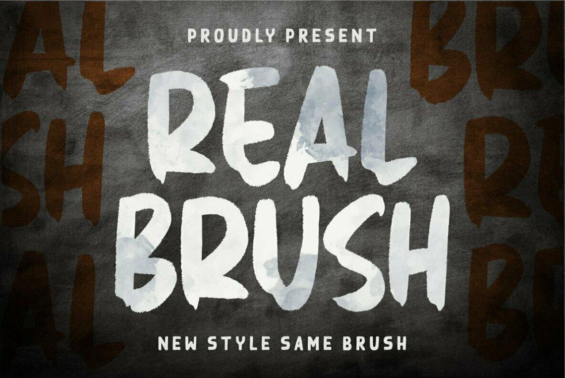 Download Real Brush - Desktop Font & WebFont - YouWorkForThem