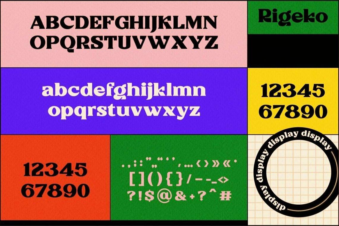 Download Rigeko - Desktop Font & WebFont - YouWorkForThem
