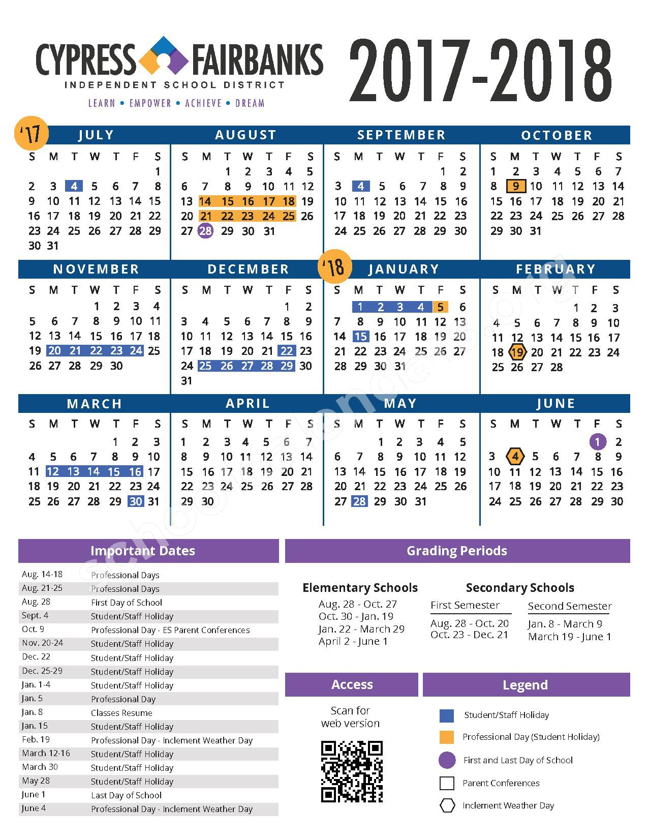 Farney Elementary School Calendars Houston Tx