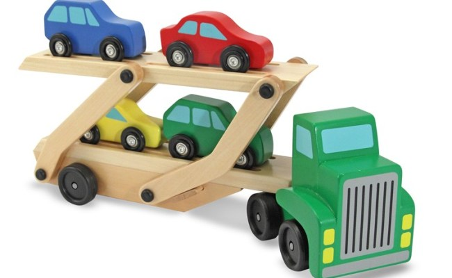 Wooden Toy Car Carrier Truck Educational Toys Planet