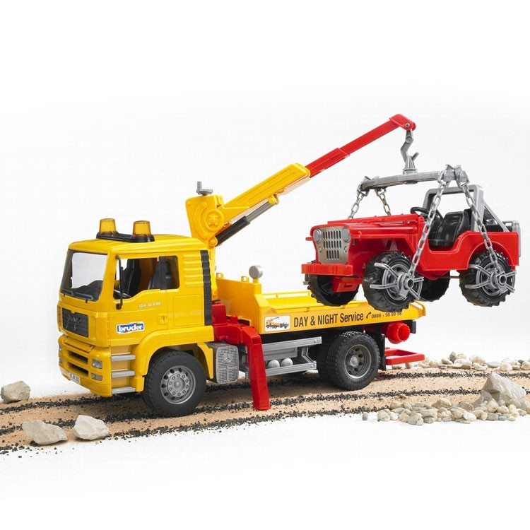 Bruder MAN Tow Truck And Toy Car 2 Toy Vehicles Play Set