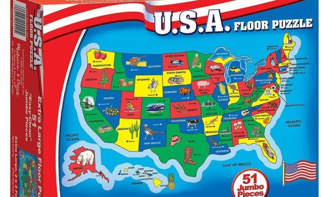 Usa Map 51 Pc Floor Puzzle Educational Toys Planet