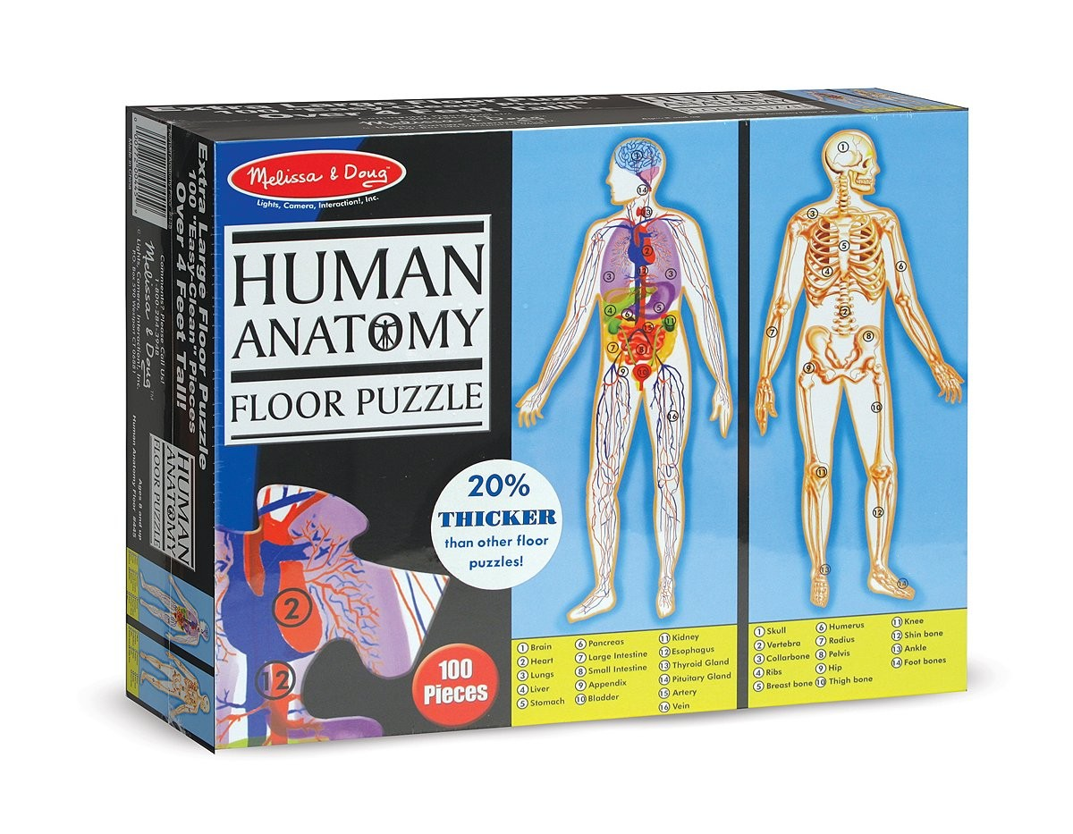 Human Anatomy Floor Double Sided Puzzle