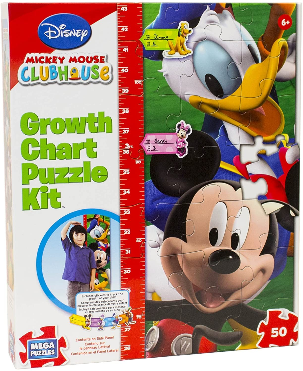 Mickey Mouse Growth Chart Puzzle