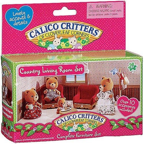 Calico Critters Country Living Room Set Educational Toys