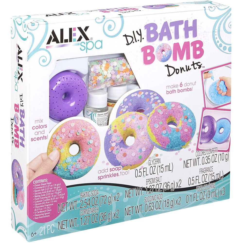 Diy Bath Bomb Donuts Girls Spa Craft Kit Educational Toys Planet