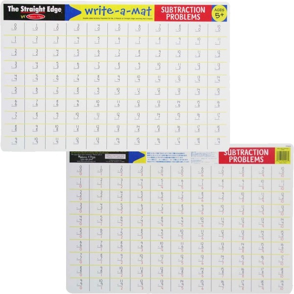 Math Skills 4 Learning Placemats & Wipe- Crayons Set