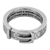Paw Print Collar Remembrance Ring