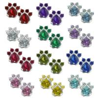 Paw Print Birthstone Earrings : The Animal Rescue Site