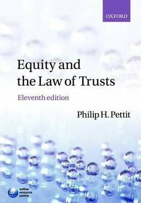 Equity And The Law Of Trusts  Philip H Pettit